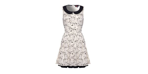 Dámske krémovo biele vzorované šaty bez rukávov Yumi