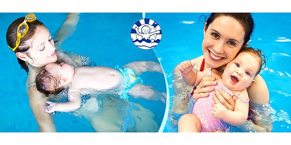 Zdravé rodinné plávanie v morskej vode