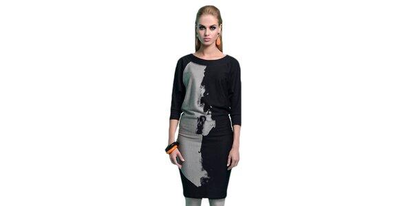 Dámske čierno-šedé šaty Zaps