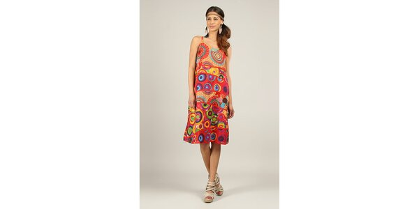 Dámske farebné šaty s červenými lemami Ziva