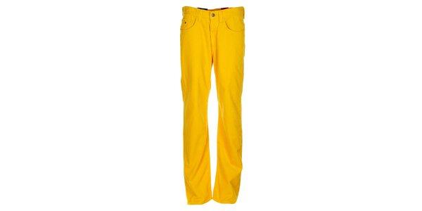 Pánske kanárikovo žlté menčestráky Tommy Hilfiger