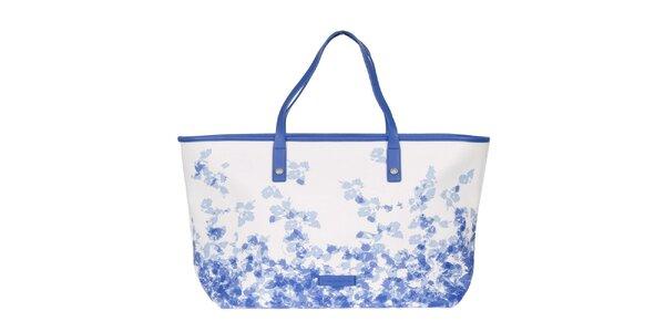 Dámska modro-biela vzorovaná kabelka Calvin Klein Jeans