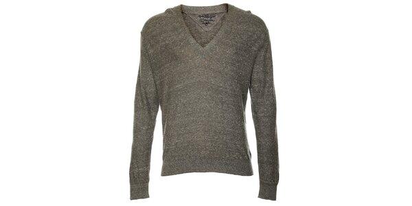 Pánský svetlo šedý sveter Tommy Hilfiger