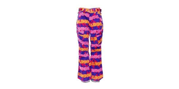 Dámske zimné nohavice značky Nugget v pestrých farbách so vzorom