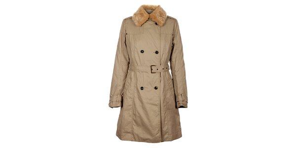 Dámsky bežový zimný kabát Timeout
