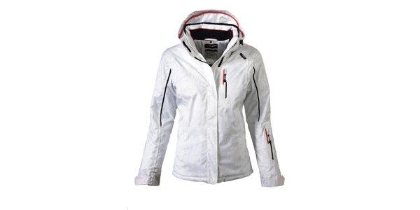 Dámska biela lyžiarska bunda s potlačou Maier