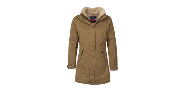 37a8a4c46b4e Dámsky hnedý funkčný kabát s podšívkou Bergson