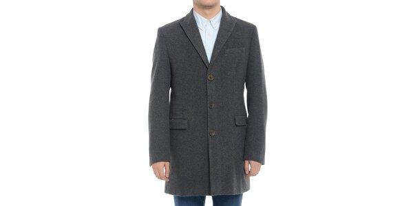 Pánsky šedý kabát Vera Ravenna