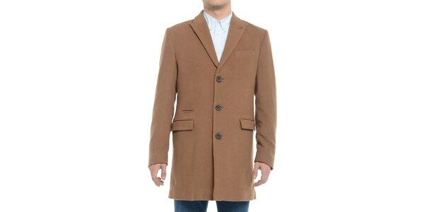 Pánsky hnedý kabát Vera Ravenna