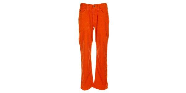 Pánske oranžové menčestráky Tommy Hilfiger