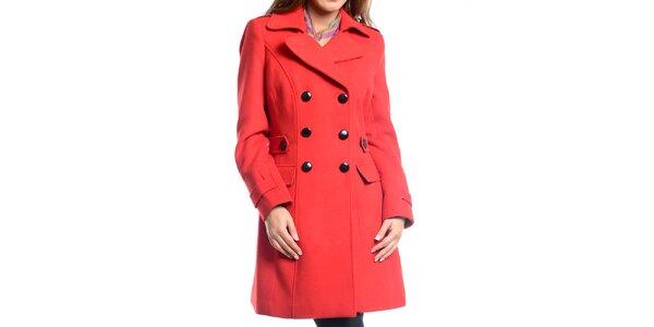 Dámsky červený zimný kabát Vera Ravenna