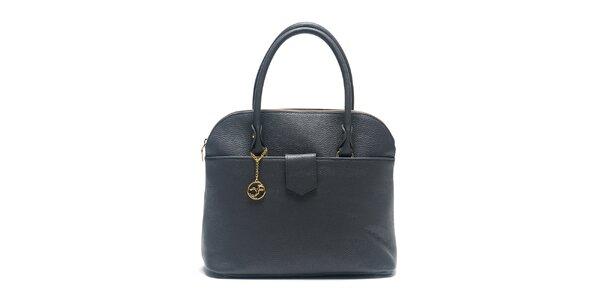 Dámska šedá kožená kabelka s retiazkou Carla Ferreri
