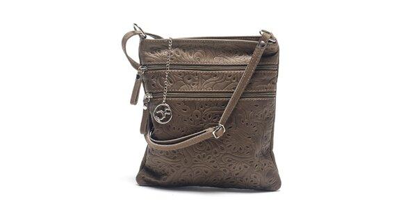 Dámska kožená taška so vzorom Carla Ferreri