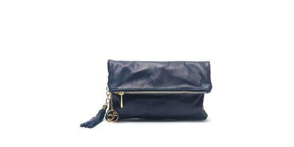 Dámska modrá kožená kabelka do ruky Carla Ferreri