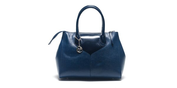 Dámska modrá kabelka so zapínaním na zips Carla Ferreri