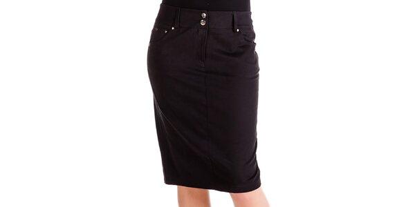 Dámska čierna sukňa s vreckami Keysha