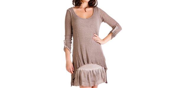 Dámsky komplet - šaty a svetrík Keysha