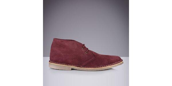 Pánske kožené členkové topánky Roamers