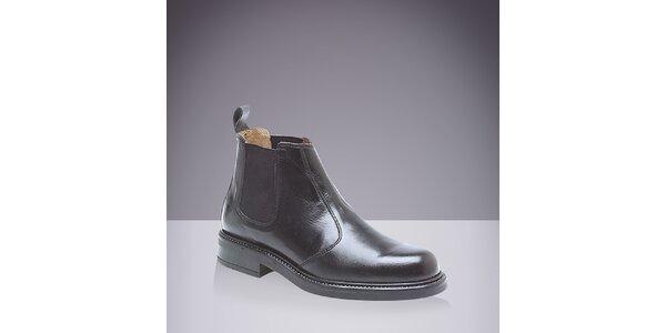 Pánske čierne chelsea topánky Roamers