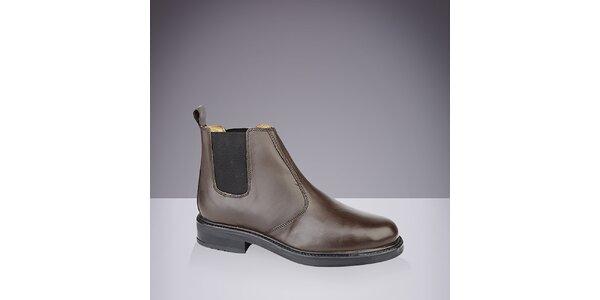 Pánske hnedé chelsea topánky Roamers