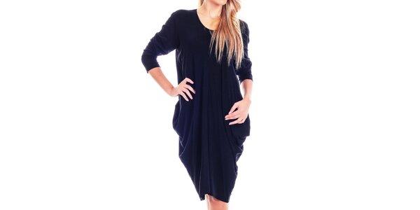 Dámske čierne voľné šaty Berry Couture