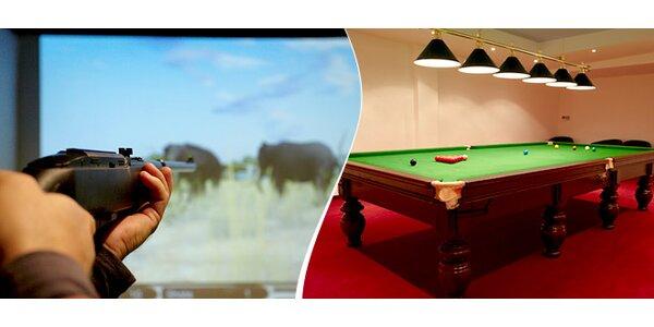 Poľovnícky simulátor a snooker na hodinu
