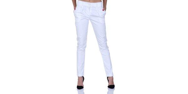 Dámske biele nohavice s talianskými vreckami Berry Couture