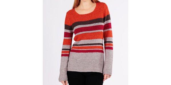 Dámsky farebný pruhovaný sveter Emma Pernelle
