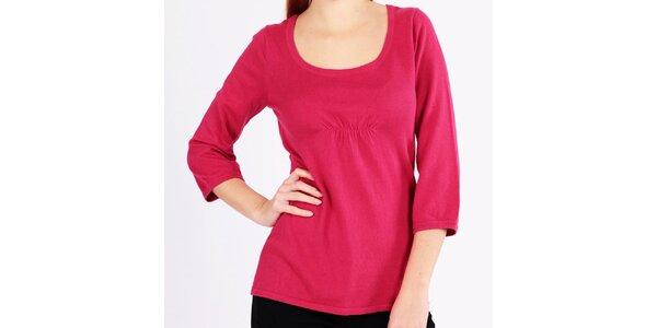 Dámsky malinový sveter s trojštvrťovými rukávmi Emma Pernelle