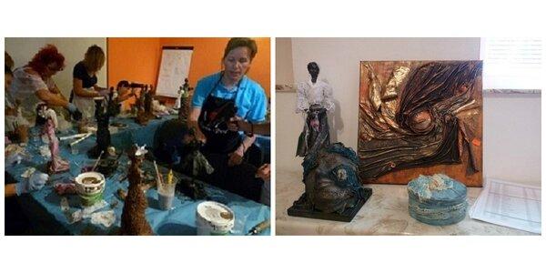 Kreatívny workshop výroby obrazov, sošiek či zrkadiel z Paverpolu