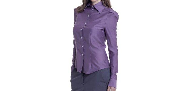 Dámska fialová košeľa s dlhým rukávom Lora Gene