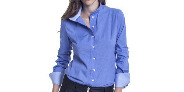 Dámska modrá košeľa s dlhým rukávom Lora Gene