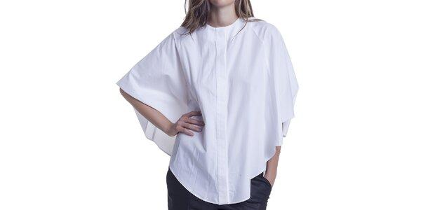 Dámska voľnejšia biela blúzka Lora Gene