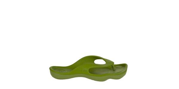 Dámske limetkovo zelené žabky Crocs
