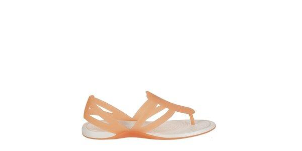 Dámske marhuľové sandály Crocs s masážnou sitelkou