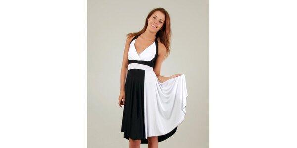 Dámske čierno-biele šaty a la Marylin Monroe Ginger Ale