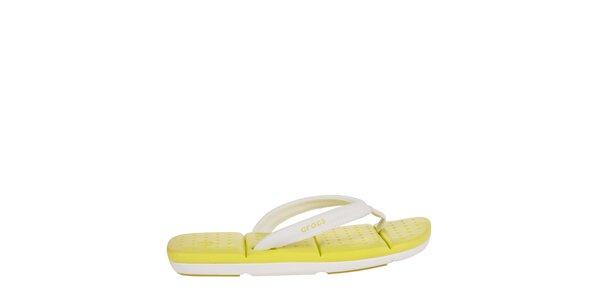 Dámske bielo-žlté žabky Crocs