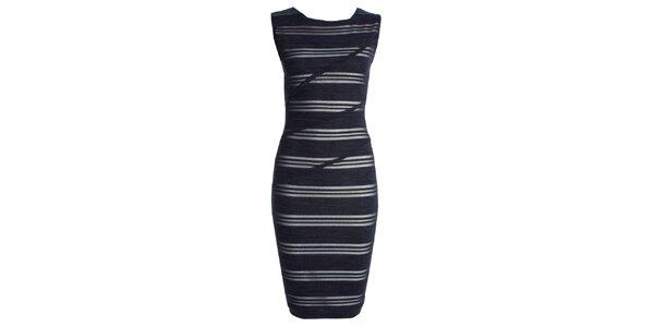 Dámske modré pruhované šaty CeMe London