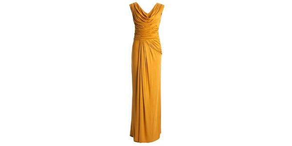 Dámske šafránovo žlté dlhé šaty CeMe London