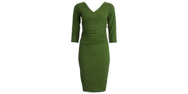 Dámske zelené šaty s 3/4 rukávom CeMe London