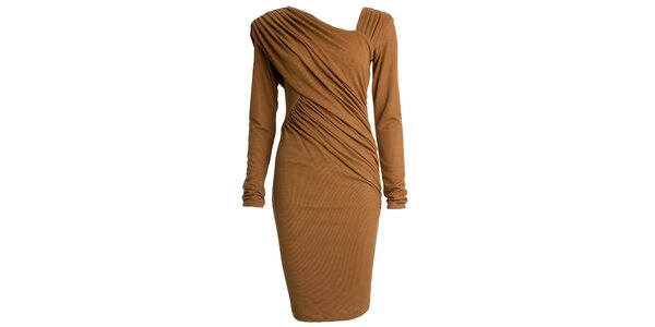 Dámske nariasené šaty s dlhým rukávom CeMe London