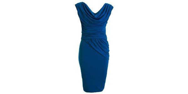 Dámske modré šaty s vodovým výstrihom CeMe London