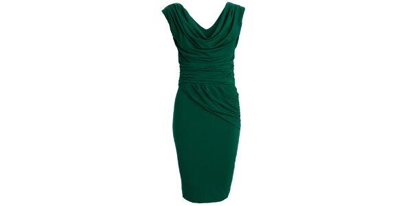 Dámske zelené šaty s vodovým výstrihom CeMe London
