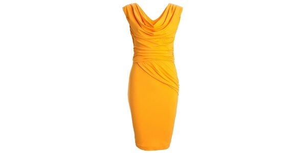Dámske žlté šaty s vodovým výstrihom CeMe London