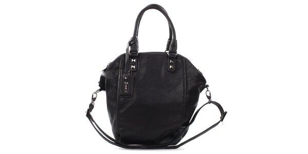 Dámska čierna kabelka s pyramídkami Bessie