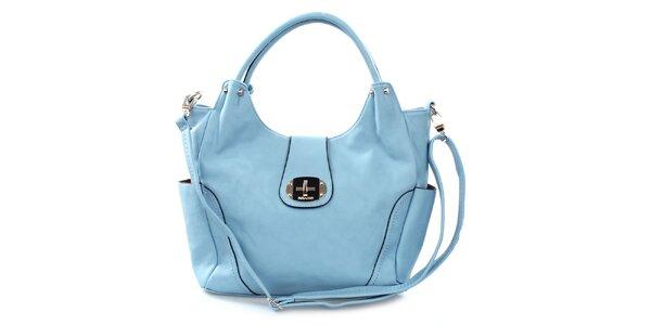 Dámska blankytno modrá kabelka Bessie so zámkom
