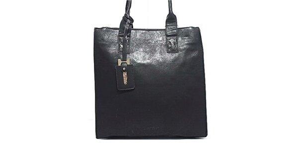 Dámska čierna kabelka s príveskom Bessie