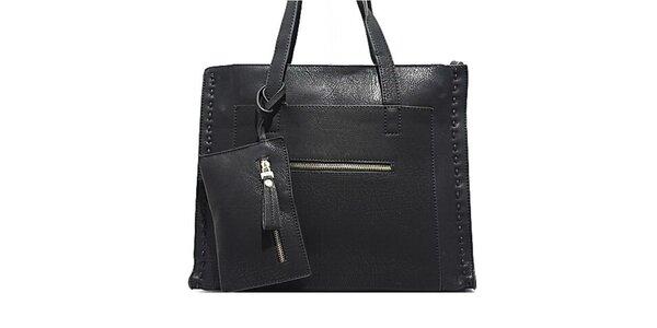 Dámska čierna kabelka s prešívaním Bessie