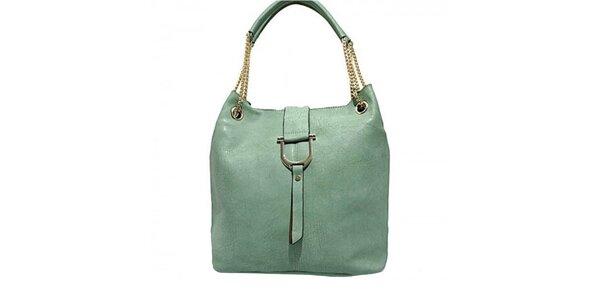 Dámska zelená kabelka s retiazkovými pútkami Bessie