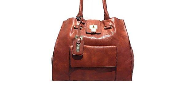 Dámska kabelka so zlatým zámčekom Bessie